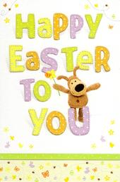Boofle Cute Happy Easter To You Greeting Card