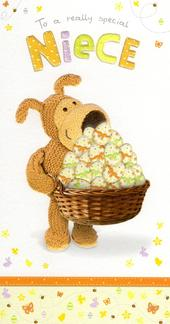 Boofle Special Niece Happy Easter Greeting Card