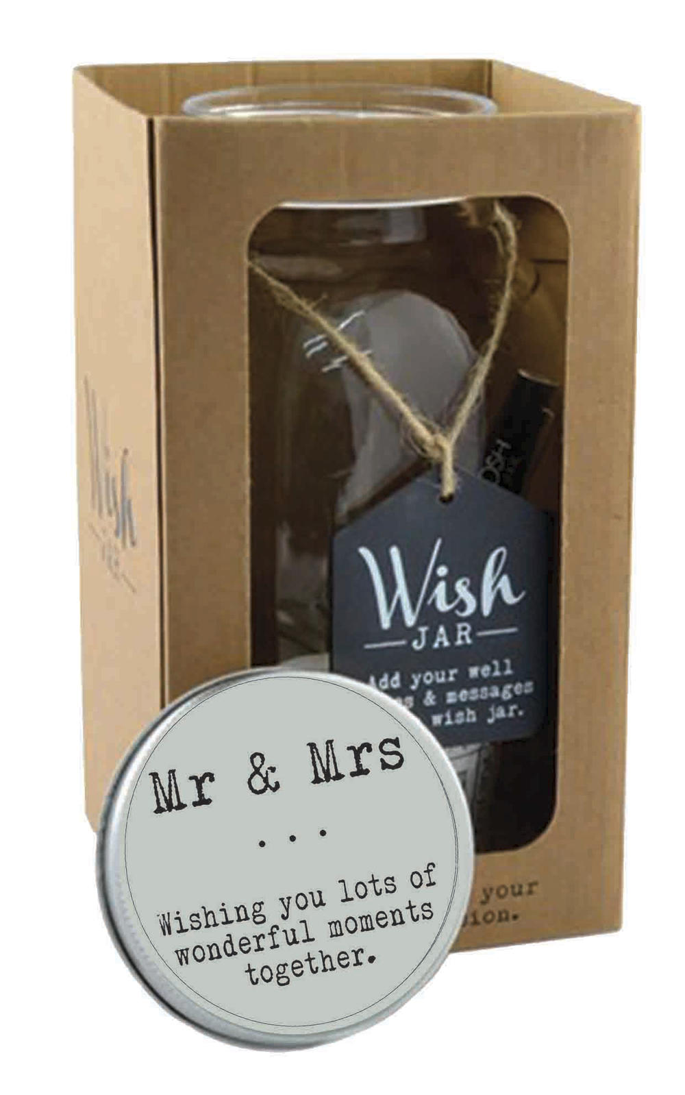 Splosh Mr & Mrs Wish Jar Gift Idea