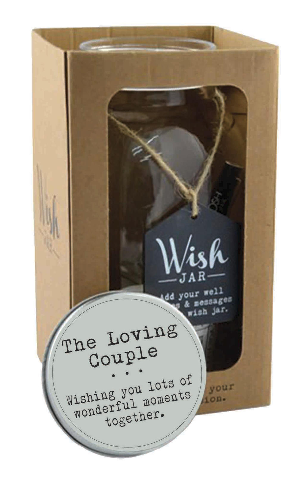 Splosh The Loving Couple Wish Jar Gift Idea