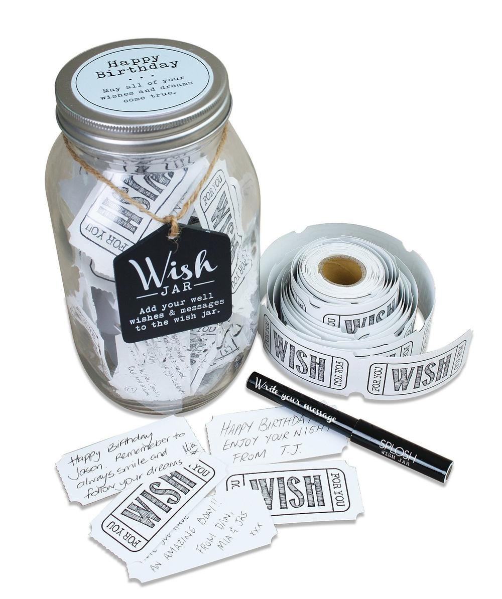 Splosh His Birthday Wish Jar Gift Idea