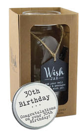 Splosh 30th Birthday Wish Jar Gift Idea