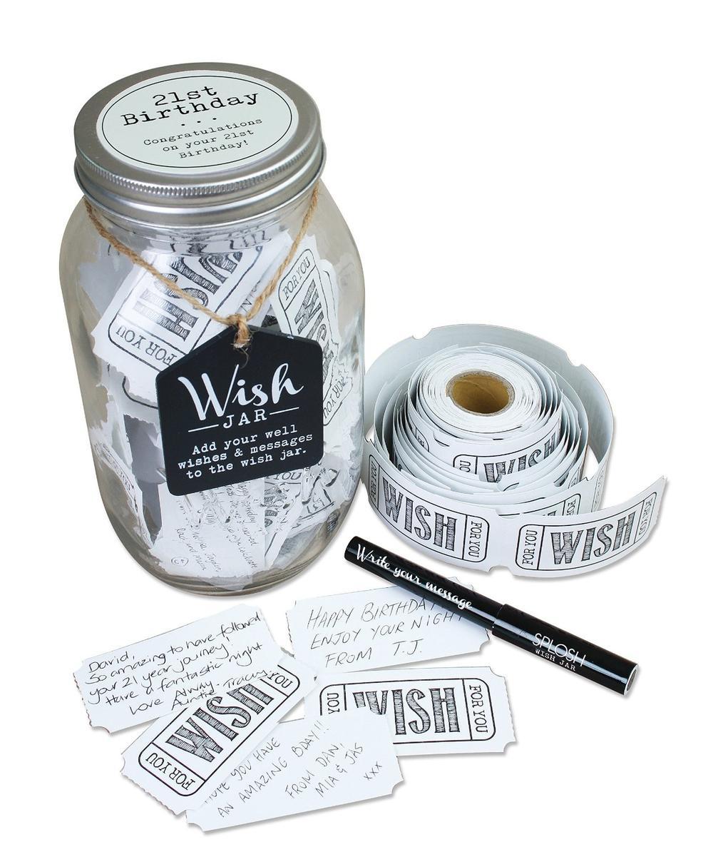 Splosh 21st Birthday Wish Jar Gift Idea