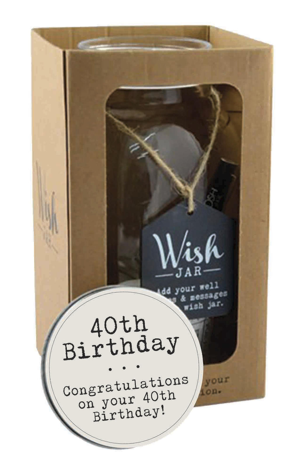 Splosh 40th Birthday Wish Jar Gift Idea