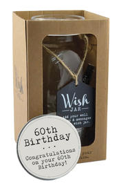 Splosh 60th Birthday Wish Jar Gift Idea