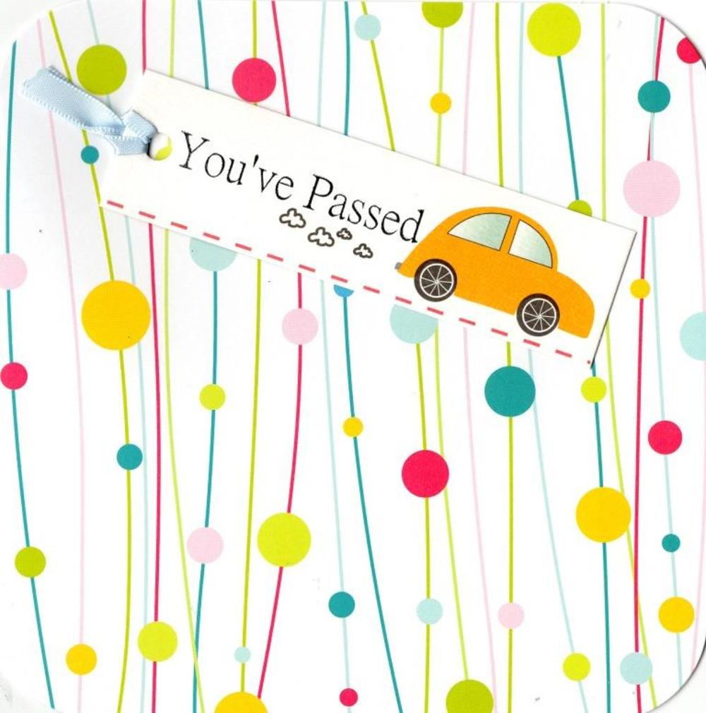 You've Passed Driving Test Hand-Finished Tag Tastic Card