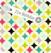 21st Birthday Hand-Finished Tag Tastic Card