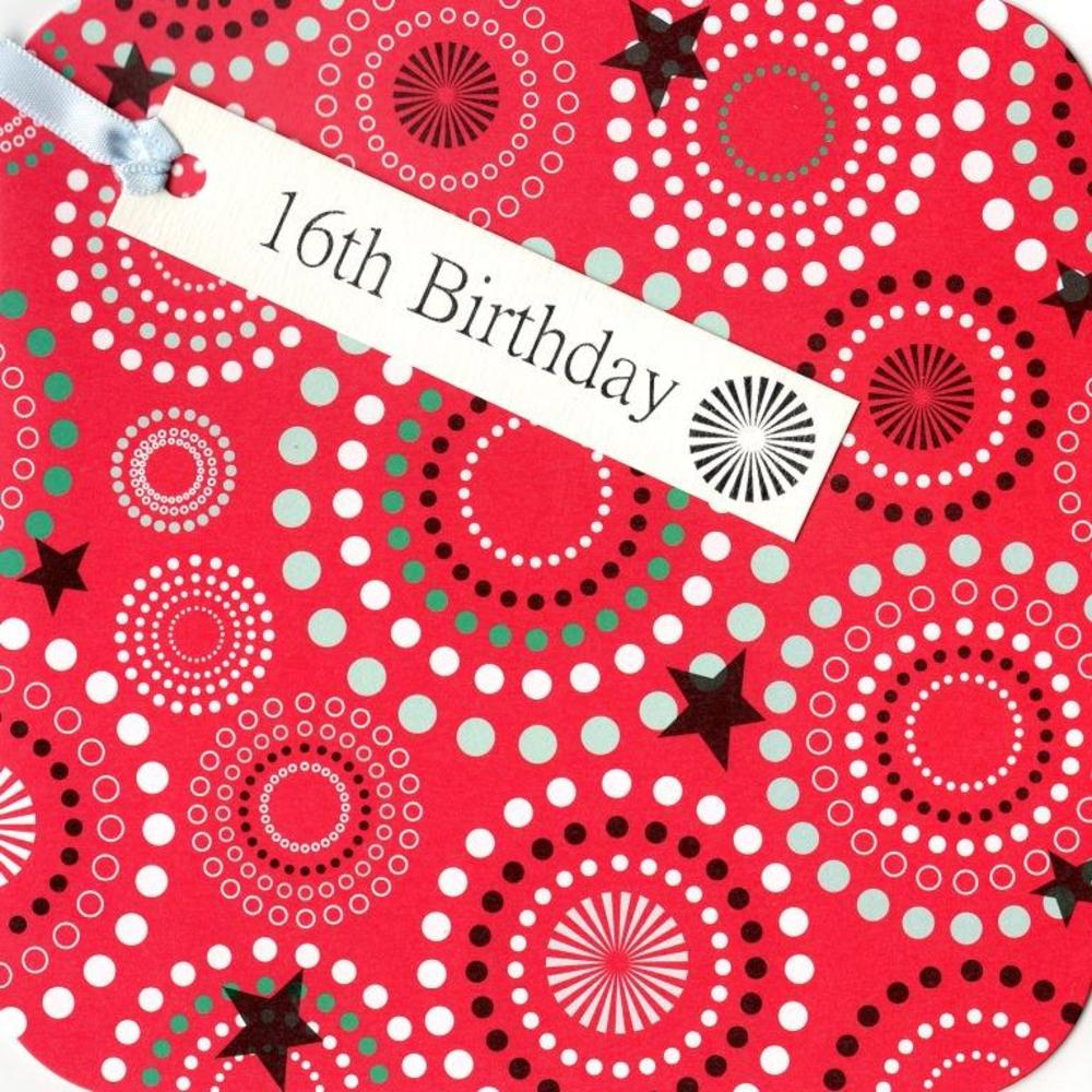 16th Birthday Hand-Finished Tag Tastic Card