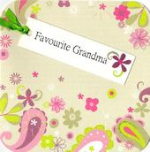 Favourite Grandma Hand-Finished Tag Tastic Birthday Card