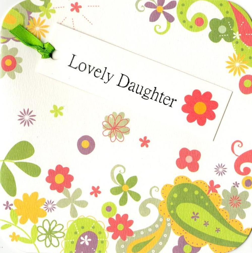Lovely Daughter Hand-Finished Tag Tastic Birthday Card