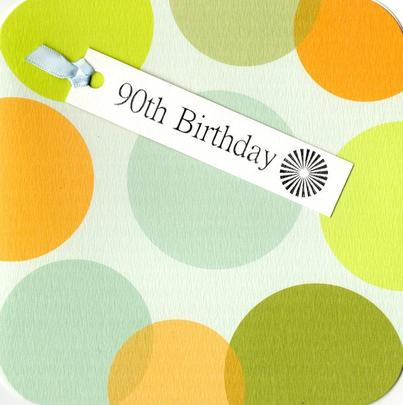 90th Birthday Hand-Finished Tag Tastic Card