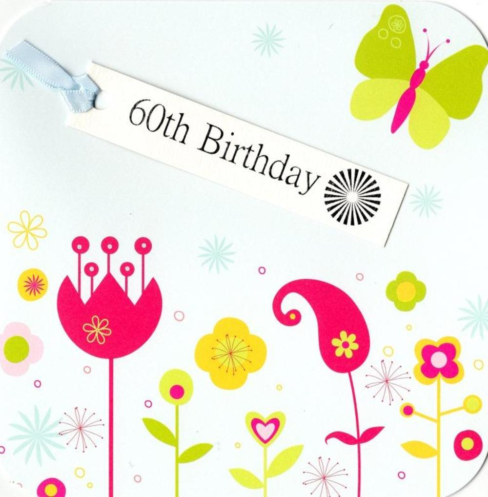 60th Birthday Hand-Finished Tag Tastic Card