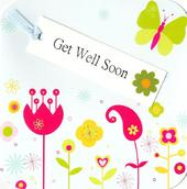 Get Well Soon Hand-Finished Tag Tastic Card