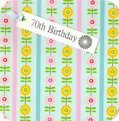 70th Birthday Hand-Finished Tag Tastic Card