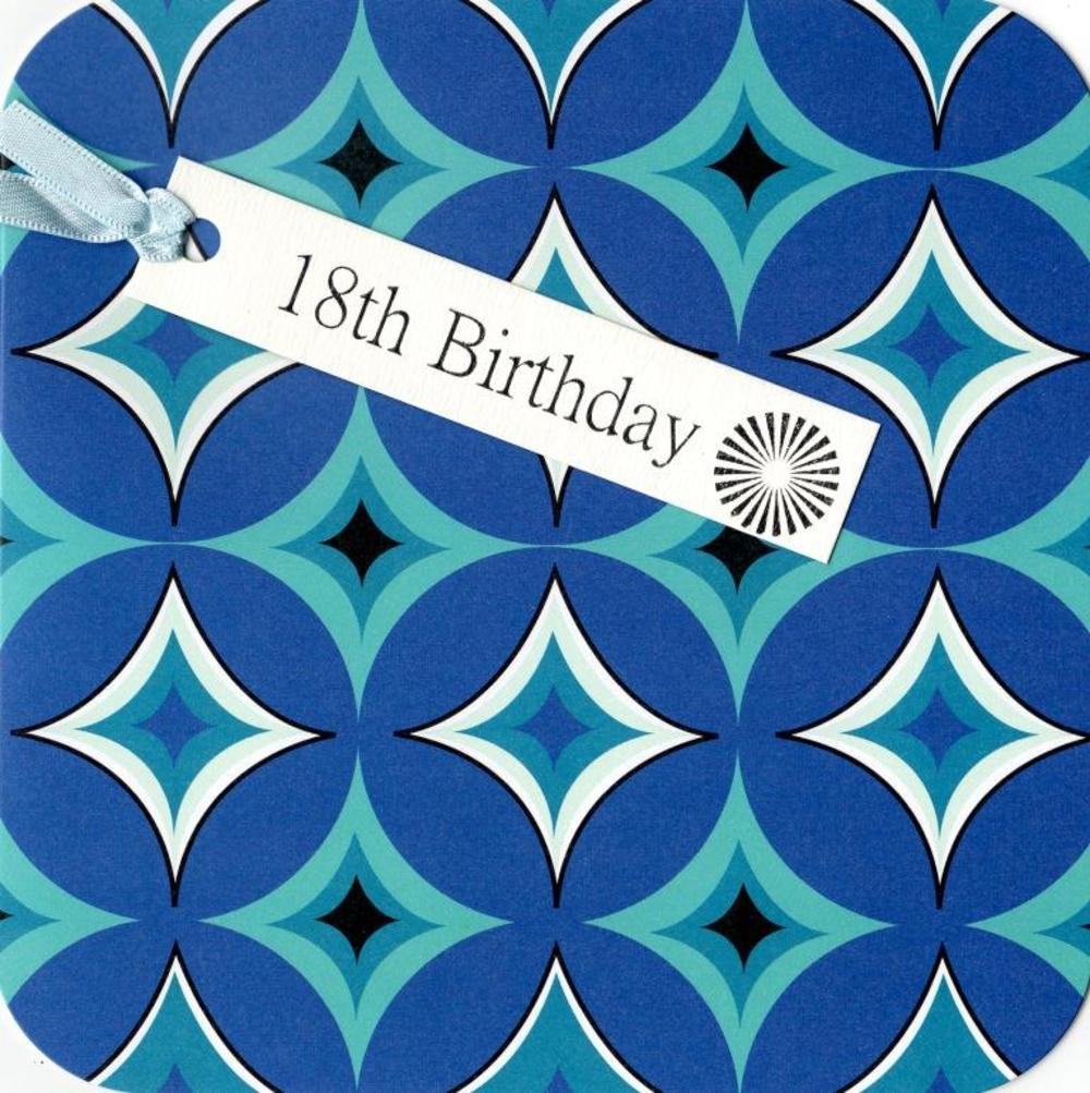 18th Birthday Hand-Finished Tag Tastic Card