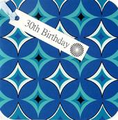 30th Birthday Hand-Finished Tag Tastic Card