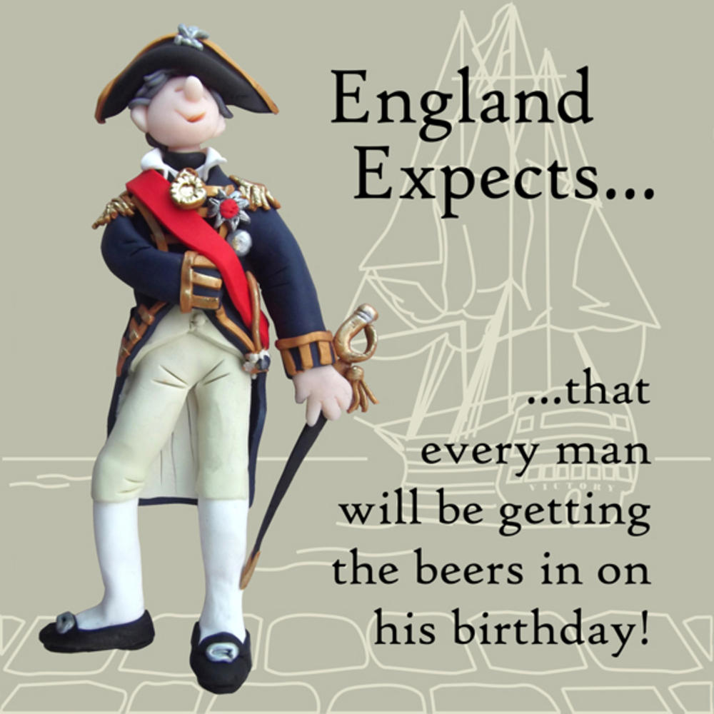 Get The Beers In Funny Olde Worlde Birthday Card