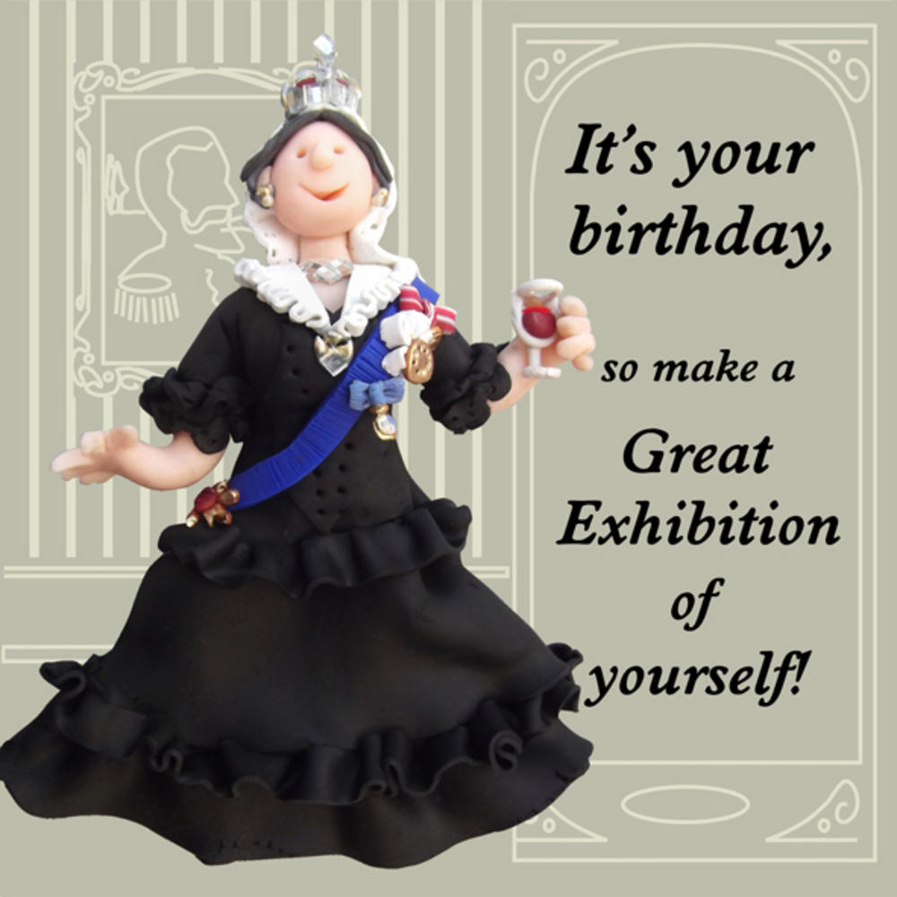 Exhibition Of Yourself Funny Olde Worlde Birthday Card