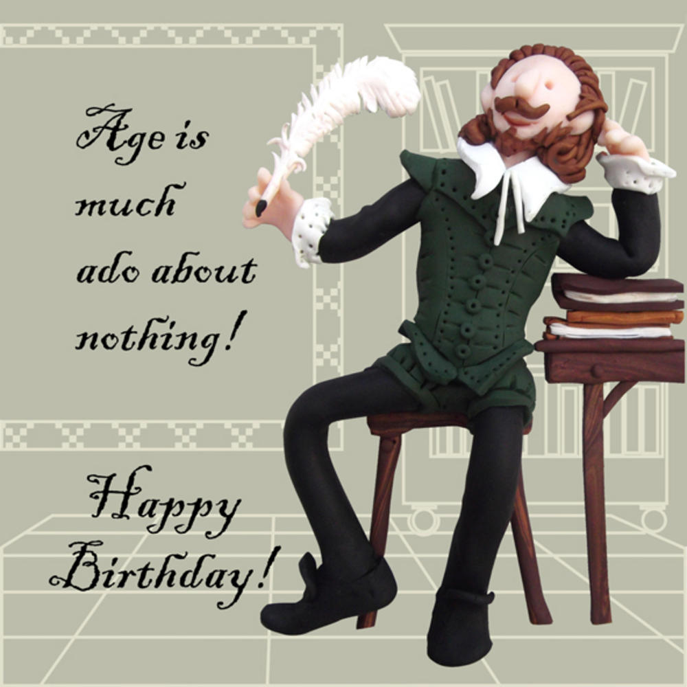 Much Ado About Nothing Funny Olde Worlde Birthday Card