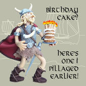 Birthday Cake? Funny Olde Worlde Birthday Card