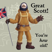Great Scott How Old? Funny Olde Worlde Birthday Card