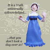 A Day Over 21 Funny Olde Worlde Birthday Card