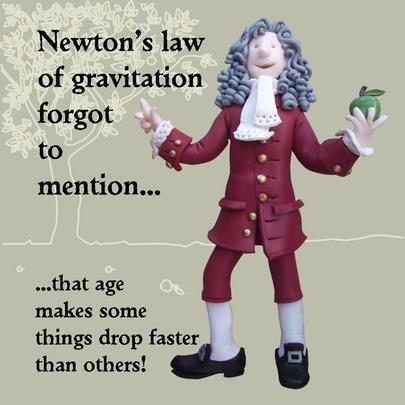 Newton's Law Funny Olde Worlde Birthday Card