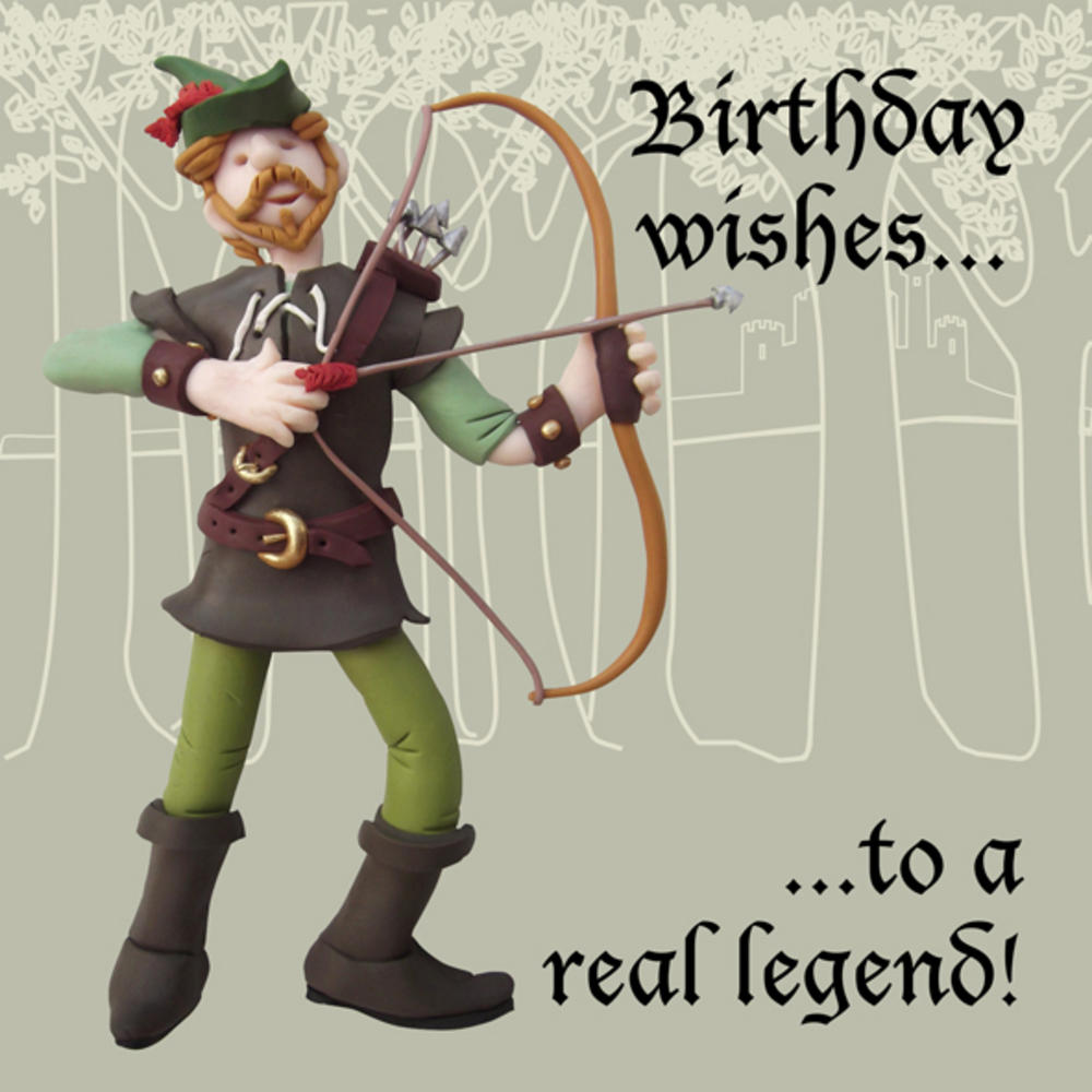 A Real Legend Funny Olde Worlde Birthday Card