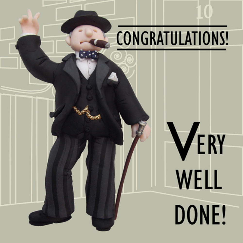 Very Well Done Funny Olde Worlde Congratulations Card