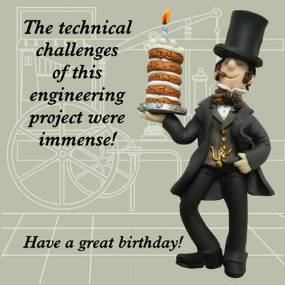 Engineering Project Funny Olde Worlde Birthday Card