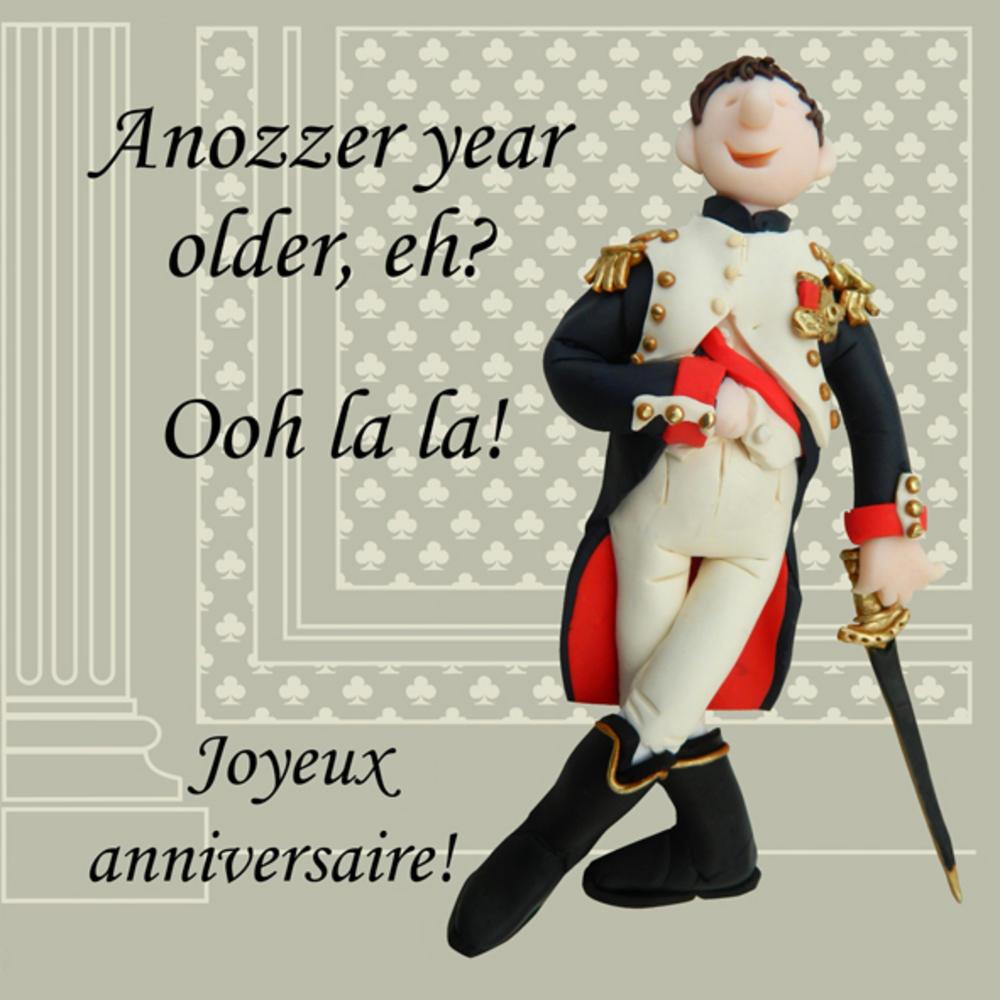 Joyeux Anniversaire Funny Olde Worlde Birthday Card