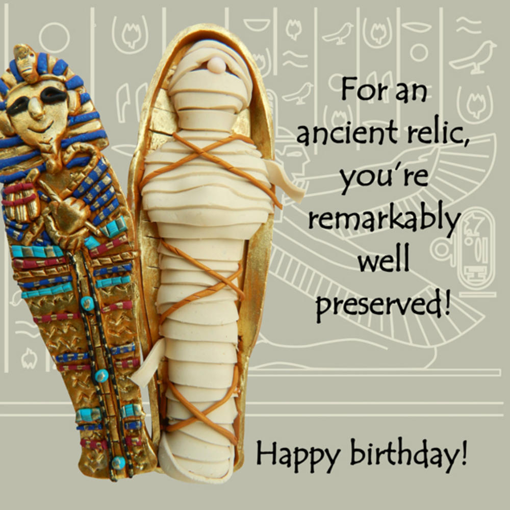 Ancient Relic Funny Olde Worlde Birthday Card Cards – Egyptian Birthday Cards