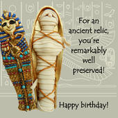 Ancient Relic Funny Olde Worlde Birthday Card