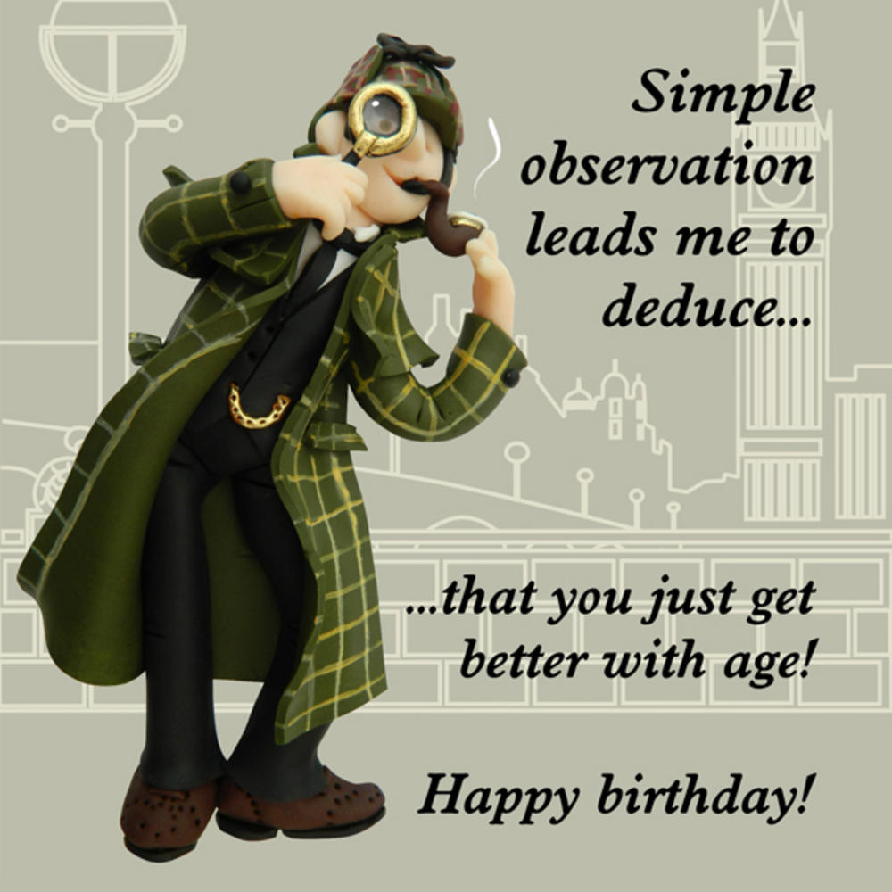 Better With Age Funny Olde Worlde Birthday Card