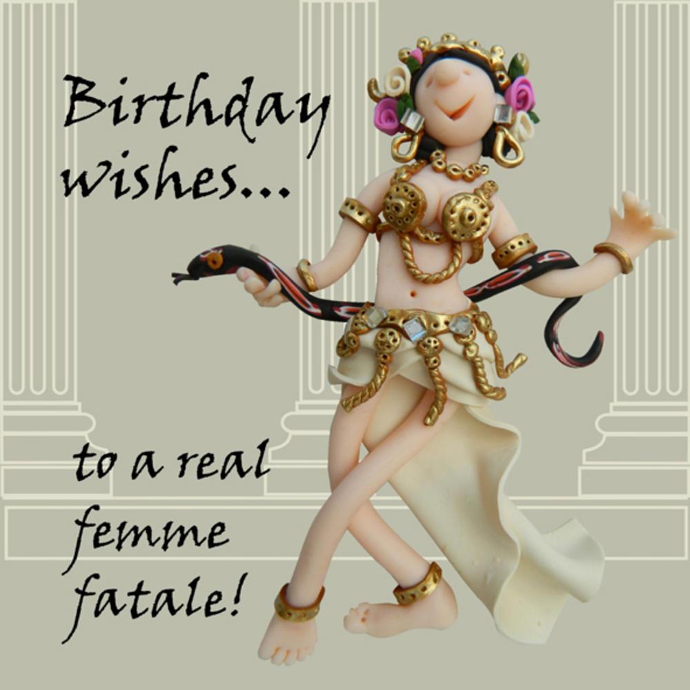 Femme Fatale Funny Olde Worlde Birthday Card