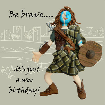 Be Brave Funny Olde Worlde Birthday Card