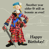 Bonnie As Ever Funny Olde Worlde Birthday Card