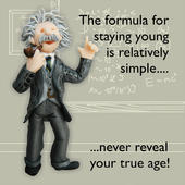 Formula Staying Young Funny Olde Worlde Birthday Card