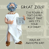 Great Zeus Funny Olde Worlde Birthday Card