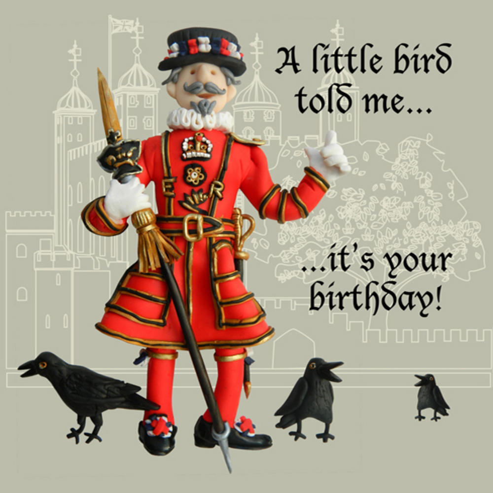 A Little Bird Told Me Funny Olde Worlde Birthday Card
