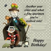 Fine Specimen Funny Olde Worlde Birthday Card