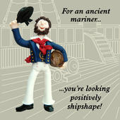 Ancient Mariner Funny Olde Worlde Birthday Card