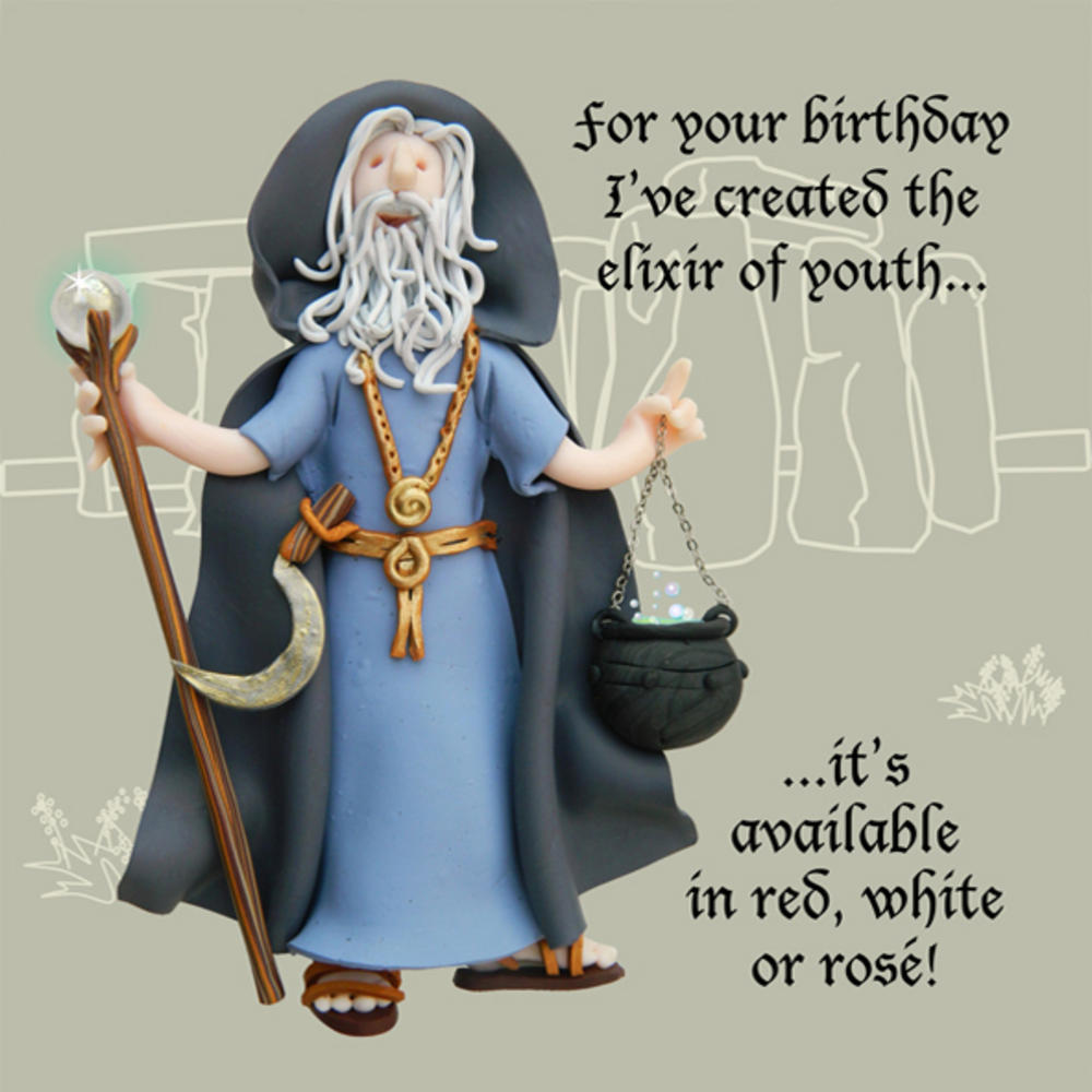Elixir Of Youth Funny Olde Worlde Birthday Card