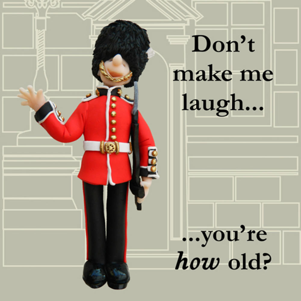 You're How Old? Funny Olde Worlde Birthday Card