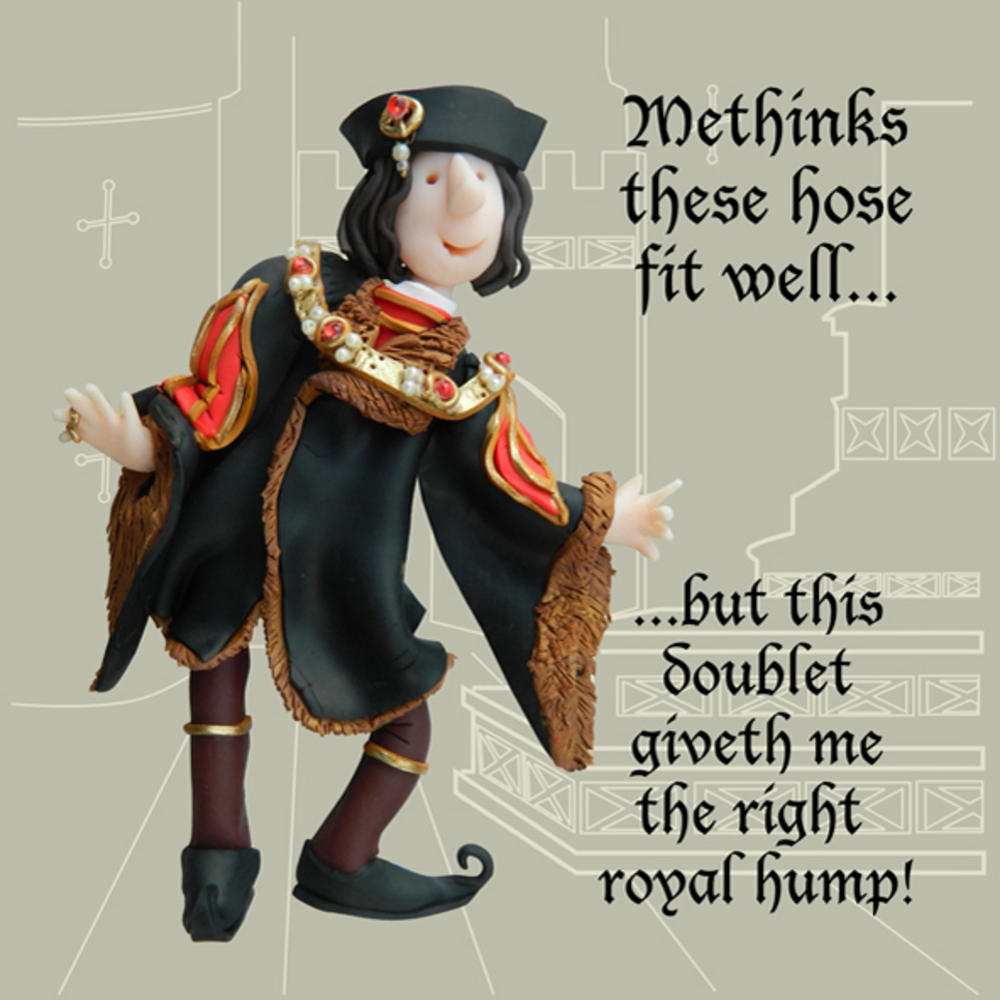 Right Royal Hump Funny Olde Worlde Greeting Card