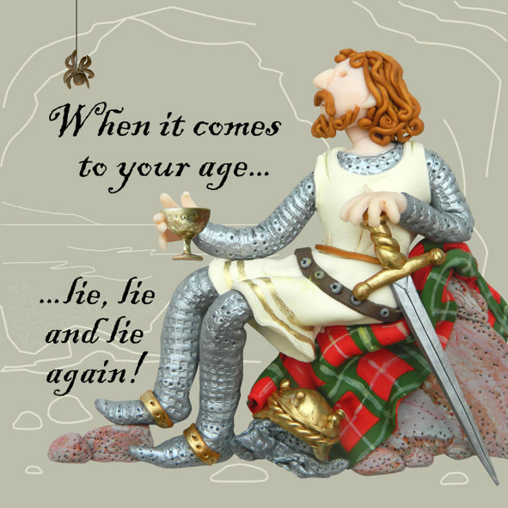 When It Comes To Age Funny Olde Worlde Birthday Card