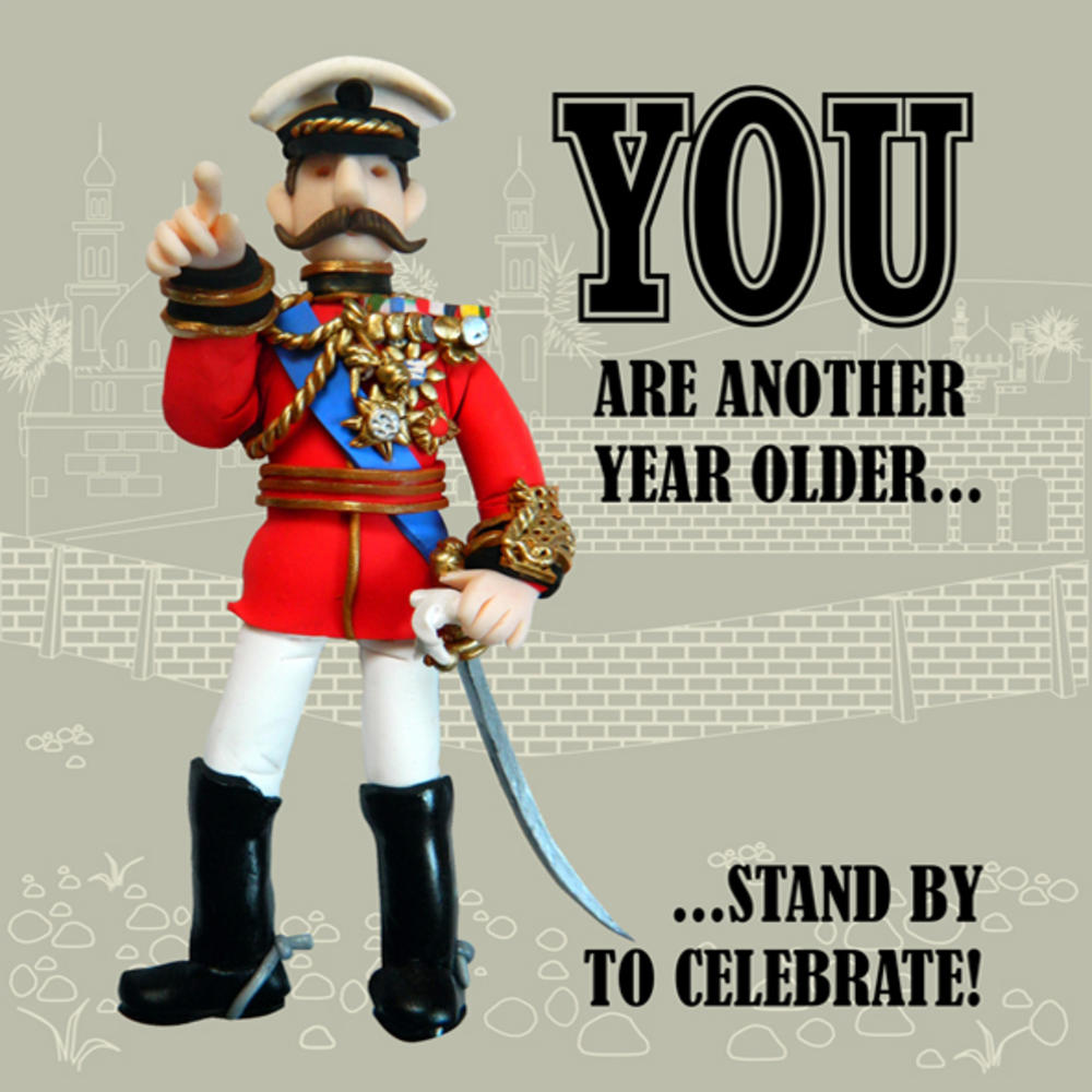 Stand By To Celebrate Funny Olde Worlde Birthday Card