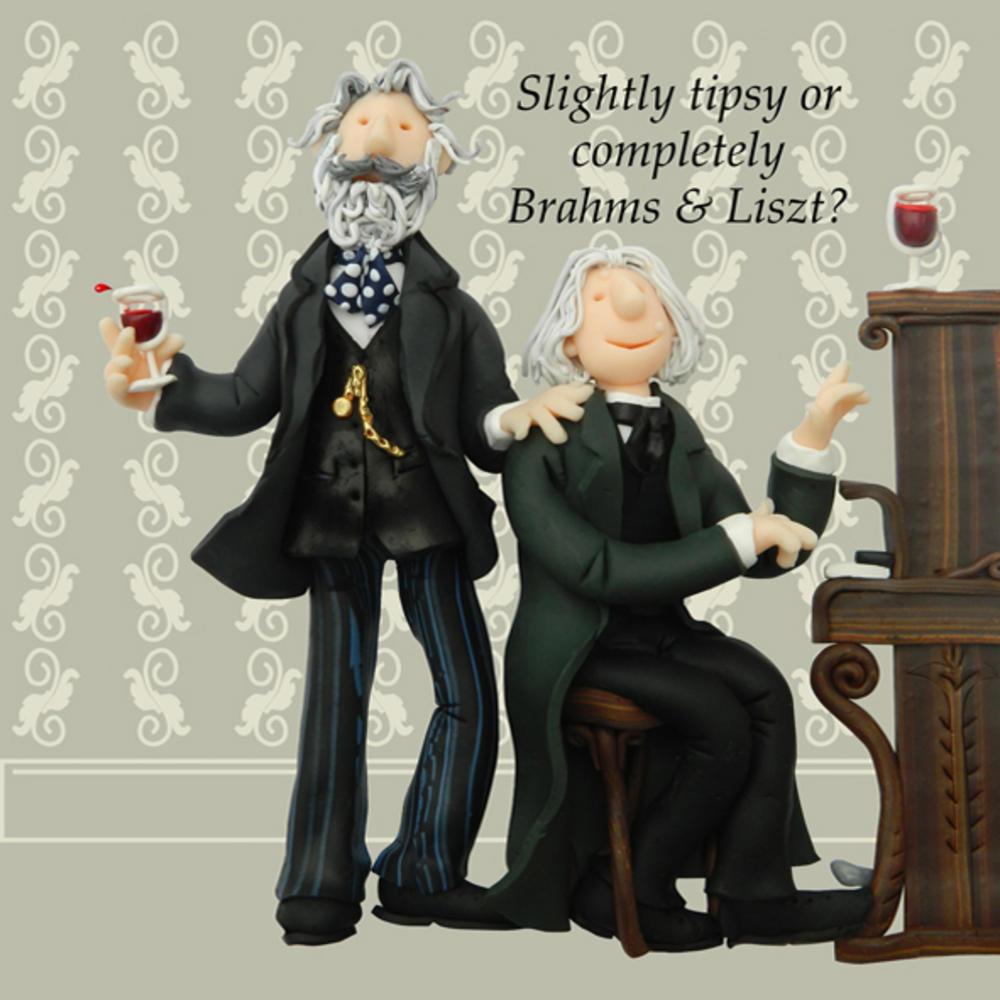 Brahms & Liszt Funny Olde Worlde Birthday Card