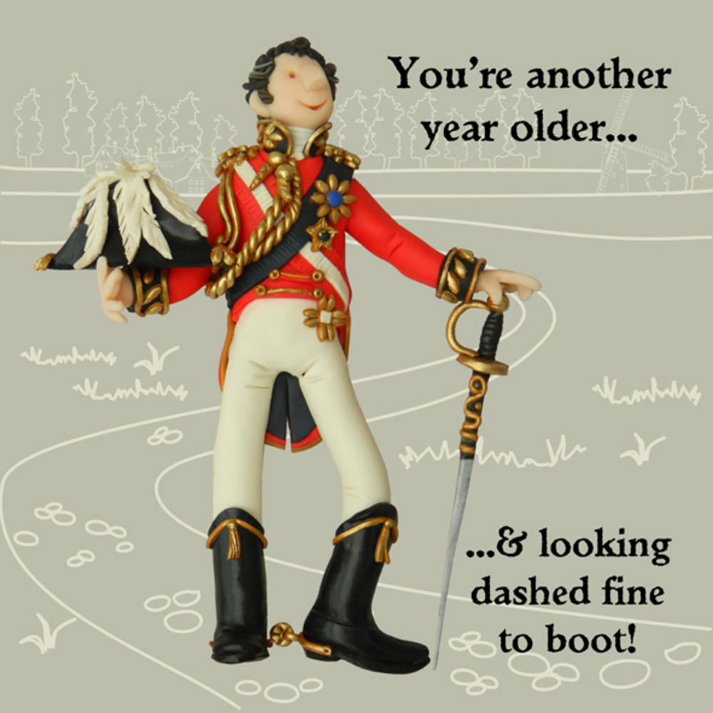 Looking Dashing Fine Funny Olde Worlde Birthday Card
