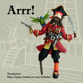 Arrr! Pirate Funny Olde Worlde Birthday Card